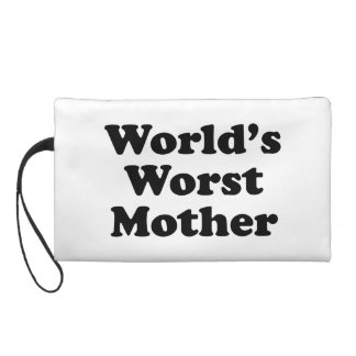 World's Worst Mother Wristlet Clutch