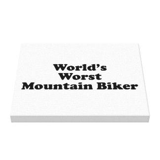 World's worst Mountain biker Canvas Print