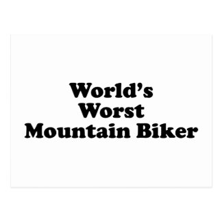 World's worst Mountain biker Postcard