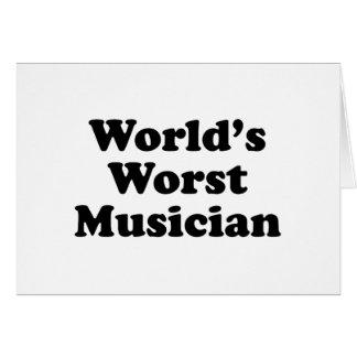 World's Worst Musician Card