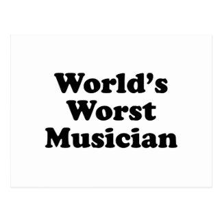 World's Worst Musician Postcard