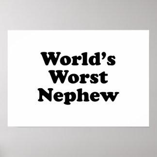 World's Worst Nephew Print