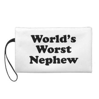 World's Worst Nephew Wristlet Clutch