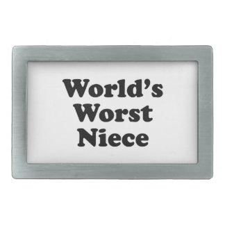 World's Worst Niece Rectangular Belt Buckles