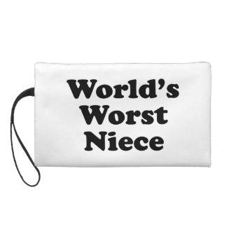 World's Worst Niece Wristlet Purses
