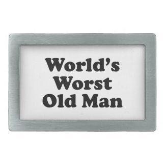 World's Worst Old Man Rectangular Belt Buckle