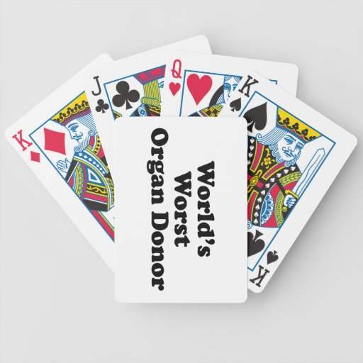 World's Worst Organ Donor Bicycle Playing Cards