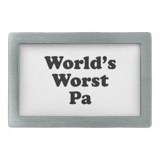 World's Worst Pa Rectangular Belt Buckles