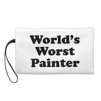 World's Worst Painter Wristlet Clutches