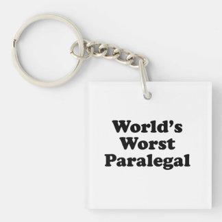 world's worst paralegal Single-Sided square acrylic keychain