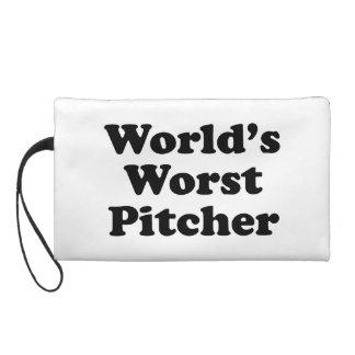 World's Worst Pitcher Wristlet Purse