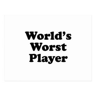 World's Worst Player Postcard