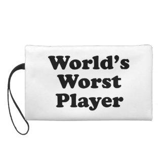 World's Worst Player Wristlet Purse