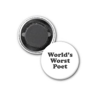 World's Worst Poet 1 Inch Round Magnet