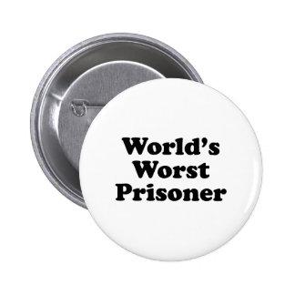 World's Worst Prisoner Pinback Button