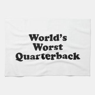 World's Worst Quarterback Hand Towel