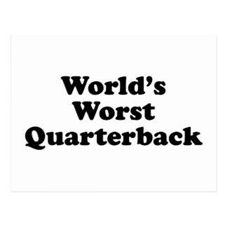 World's Worst Quarterback Postcard