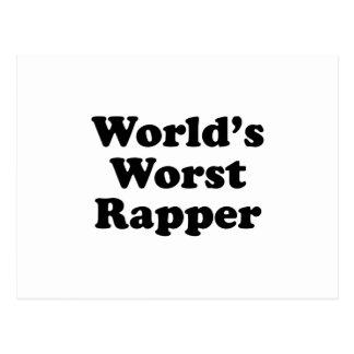 World's Worst Rapper Postcard