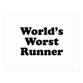 World's Worst Runner Postcard