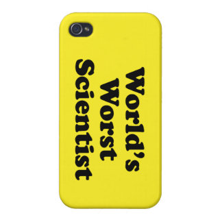 World's Worst Scientist Cover For iPhone 4