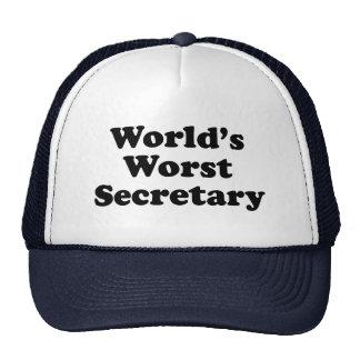 World's Worst Secretary Trucker Hat