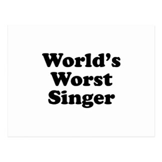 world's worst singer postcard