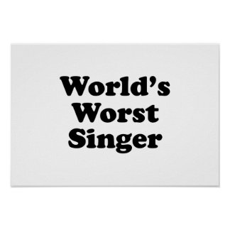 world's worst singer posters