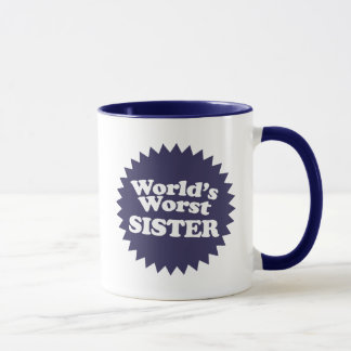 World's Worst Sis Mug