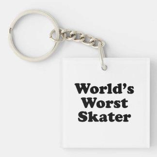 world's worst skater keychain