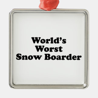 World's Worst Snow Boarder Ornaments