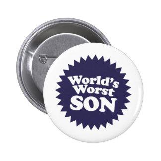 World's Worst Son 2 Inch Round Button