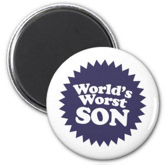 World's Worst Son 2 Inch Round Magnet