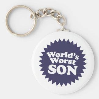 World's Worst Son Basic Round Button Keychain