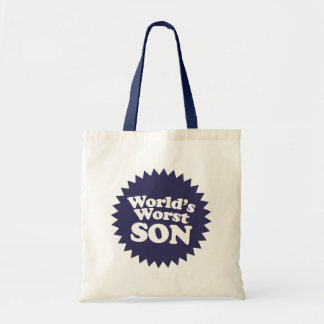 World's Worst Son Budget Tote Bag