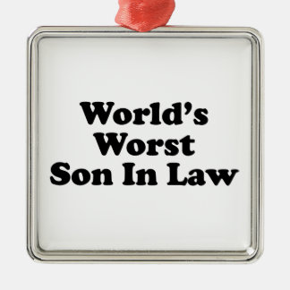 World's Worst Son In Law Christmas Tree Ornament