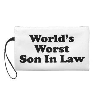 World's Worst Son In Law Wristlet Purse