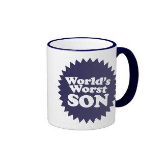 World's Worst Son Ringer Coffee Mug