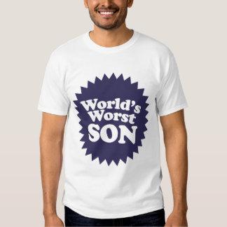 World's Worst Son Tshirts