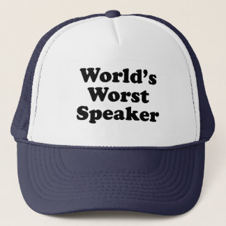 World's worst speaker trucker hat