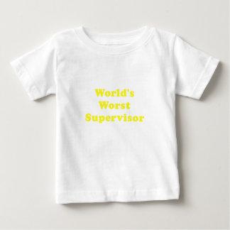 Worlds Worst Supervisor Baby T-Shirt