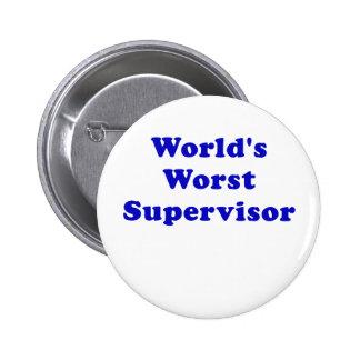 Worlds Worst Supervisor Pinback Button