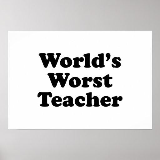 world's worst teacher posters