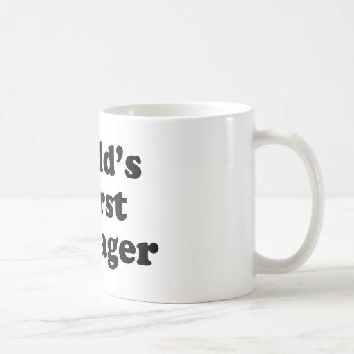 world's worst teenager coffee mug