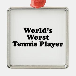 World's Worst Tennis Player Metal Ornament