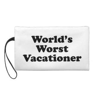 World's Worst Vacationer Wristlet Clutch
