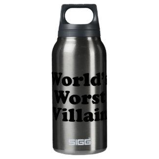 World's Worst Villain Insulated Water Bottle
