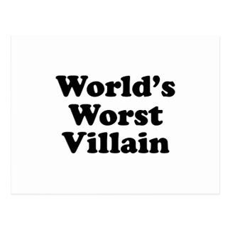 World's Worst Villain Postcard
