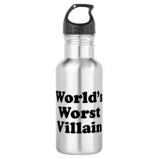 World's Worst Villain Water Bottle
