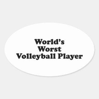 World's Worst Volleyball Player Oval Sticker