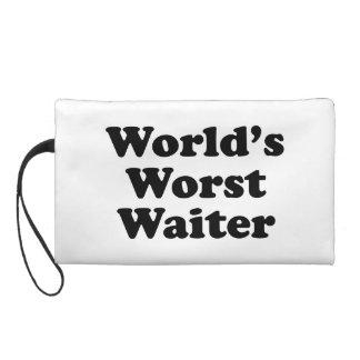World's Worst Waiter Wristlet Clutches